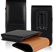 Solid Color Open Up and Down PU Leather Full Body Case with Waist Clip for iPhone 6