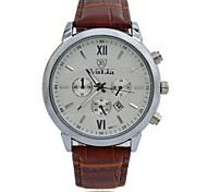 Men's Fashion Quartz Watches Leather Strap Complete Calendar Vogue Sports Military Wristwatches (Assorted Colors)