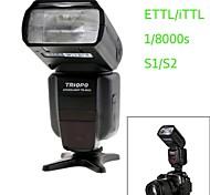 Triopo tr-982ii c E-TTL de sincronización maestro / esclavo de alta velocidad de 1 / 8000s flash Speedlite para la cámara réflex digital Canon