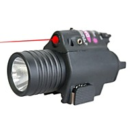 LT-LED Flashlight Red Laser Pointer  (4MW,650nm,1x16340,Black)