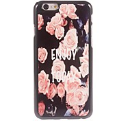 Elegant Pink Rose Design Aluminium Hard Case for iPhone 6