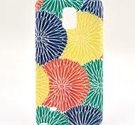 custodia morbida colorato sole fiore TPU per Samsung Galaxy Note 4
