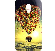 The Flying Elephants Pattern TPU Soft  Cover for Motorola Moto G2