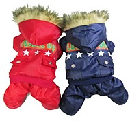 Cat / Dog Coat Red / Blue Dog Clothes Winter Police/Military