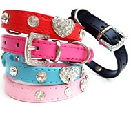 New Leather Love Heart  Collar for Dogs and Pets(assorted colours ,size)