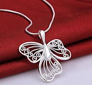 Fashion Electroplating Ms 925 Silver Necklace