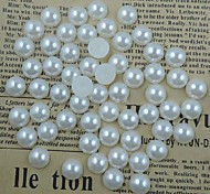 500PCS White Flatback Semicircle Pearl Gems 6mm Handmade DIY Craft Material/Clothing Accessories