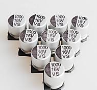 10 x 10mm 16v condensadores electrolíticos 1000uF aluminio smd (10 piezas)