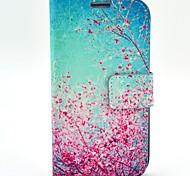 Cherry Blossoms modèle étui en cuir PU avec fente pour carte de portefeuille pour les Samsung Galaxy S i9500