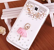 Crystal Luxury Swarovski Ballet Girl Diamonds Back Cover Cases for SAMSUNG Galaxy Grand I9080/I9082(Assorted Colors)