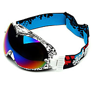 HB Black & White Frame Double Lens Compressive Snow Googgles