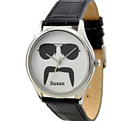 Customized JUST2YOU Citizen Movement Moustache Series 2 Watch  in Black   Case