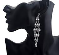 Lureme®Fashion Diamond Crystal Pendant Earrings
