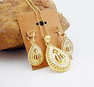 18K Golden Plated Allah Muslim Zircon Jewelry Set