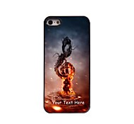 Personalized Phone Case - Music in Fire Design Metal Case for iPhone 5/5S