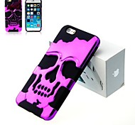3D Silicon and Metal Fashion Cool Skulls Back Case Cover for iPhone 4/4S(Assorted Colors)