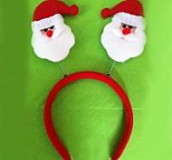Natal rubor Papai Noel cabeça (6pcs)