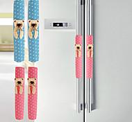 Bear Pattern Cotton Fabric Closet& Refrigerator Doorknob Covers K3586 glove pair