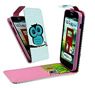 Sleeping Owl Vertical Flip PU Leather Full Body Case with Card Holder for LG L90