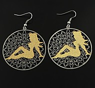 European and American Fashion Copper Sexy Lady Earrings Random Color