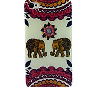 A Pair Of Elephant Pattern TPU Soft Case for iPhone 4/4S