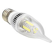 E26/E27 5 W 27 SMD 5730 350 LM Cool White CA Candle Bulbs AC 100-240 V