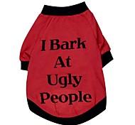 """um grande gog adorável """"i latir"""" padrão 100% algodão t-shirt para cães (cores sortidas tamanhos variados)"""