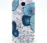 Light blue Lotus-TPU weiche Tasche für Samsung Galaxy S4 i9500