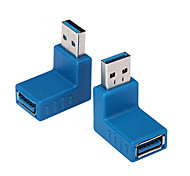 USB3.0 Male to USB3.0 Female 90 Degree Adapter