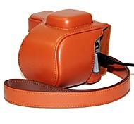 Pajiatu PU Leather Camera Protect Case Bag Cover with Charging Port for Sony NEX-5R NEX-5T NEX-5TL NEX-5RL 5R 5T 16-50