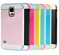 Hybrid Rugged Rubber Hard Case Cover for Samsung Galaxy S5  i9600 (Assorted Colors)