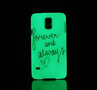 Phrase Pattern Glow in the Dark Hard Case for Samsung Galaxy S5
