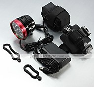 LT-061 3Mode   6x CREE XM-L T6 LED  Bike  Headlamp (9000LM.1X18650.Black)