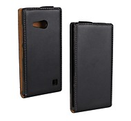 Flip-Open Genuine Leather Full Body Case for Nokia Lumia 730