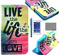 modello di vita di amore pu custodia in pelle cocco fun® con la protezione dello schermo e lo stilo per Samsung Galaxy Core 2 g355h