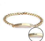 Personalized Gift Bracelet Stainless Steel Engraved Jewelry