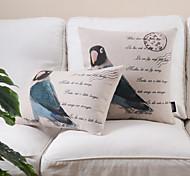набор 2 countrystyle модели птица хлопок / лен декоративная подушка крышки