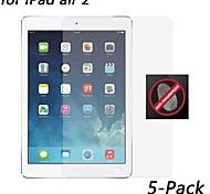 [5-pack] hd anti-huella digital protector de pantalla resistente para ipad aire 2