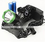 Luci Torce frontali LED 2300 Lumens 3 Modo Cree XM-L U2 18650 Impermeabili / RicaricabileCampeggio/Escursionismo/Speleologia / Uso
