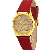 Personalized Mother's Day Gift JUST2YOU Citizen Movement Women's The World Map  in Gold Case
