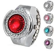 Montre d'anneau de quartz analogique moitié en alliage cercle des femmes (couleurs assorties)