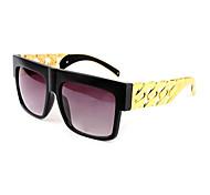 100% UV400 gafas de sol clásicas de metal cuadrada