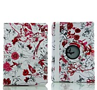 9.7 Inch 360 Degree Rotation Butterflies and Flowers Pattern with Stand Case for iPad Air 2