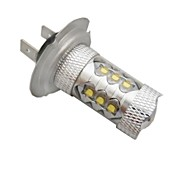 H7 Coche Blanco 80W LED Integrado    LED de Alto Rendimiento 6500-7000 Faros Antiniebla