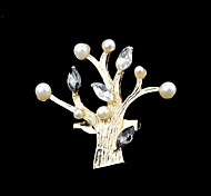 2014 Hot Sale Gold Color Plated Tree With Fake Pearl China Wholesale Brooch
