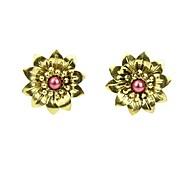 Cheap Wholesale Small Alloy Flower Stud Earrings