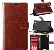 Oil Side Frame Model Design PU Leather Full Body Case with Card Slot for Sony xperia E3(Assorted Colors)