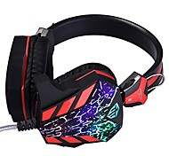 Cosonic CD-618 Headphone Wired 3.5mm Over Ear Gaming with Microphone Breathing LED Light For PC