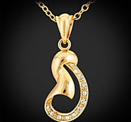 U7® Pendant Necklace Rhinestone Gift 18K Real Gold Platinum Plated Crystal Fashion Jewelry