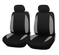 4 piezas / set asiento del coche cubre ajuste universal material de poliéster de 3 mm de esponja compuesta accesorios para interiores de automóviles